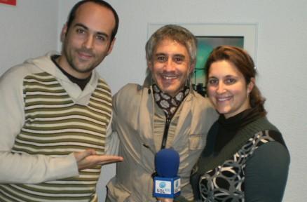 Alicia y Víctor con Sergio Dalma